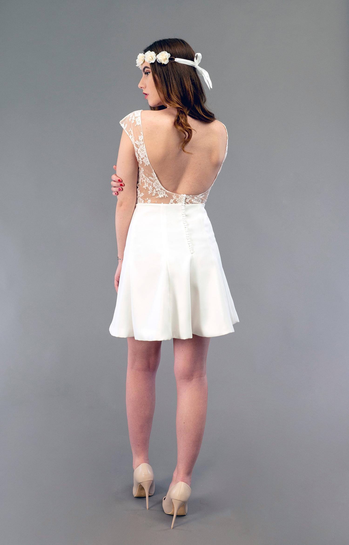Robe de mariée à Marseille par Belle en soie Couture   robe Fuchsia
