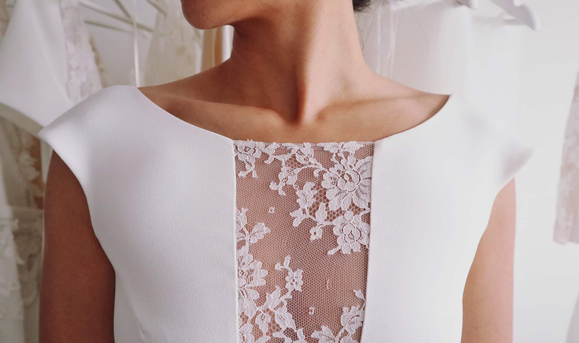 Création de robe de mariée à Marseille   Détail de robe de mariée